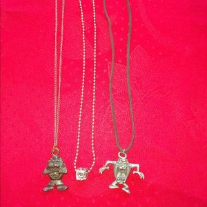 3 looney toons necklaces